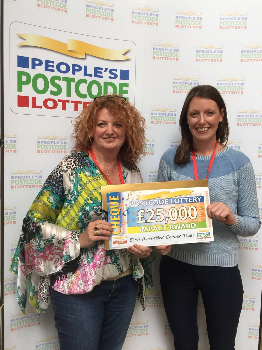 Thrilled to receive a cheque from @PostcodeLottery at the #pplcharitygathering in recognition of our Impact Report - thank you!!