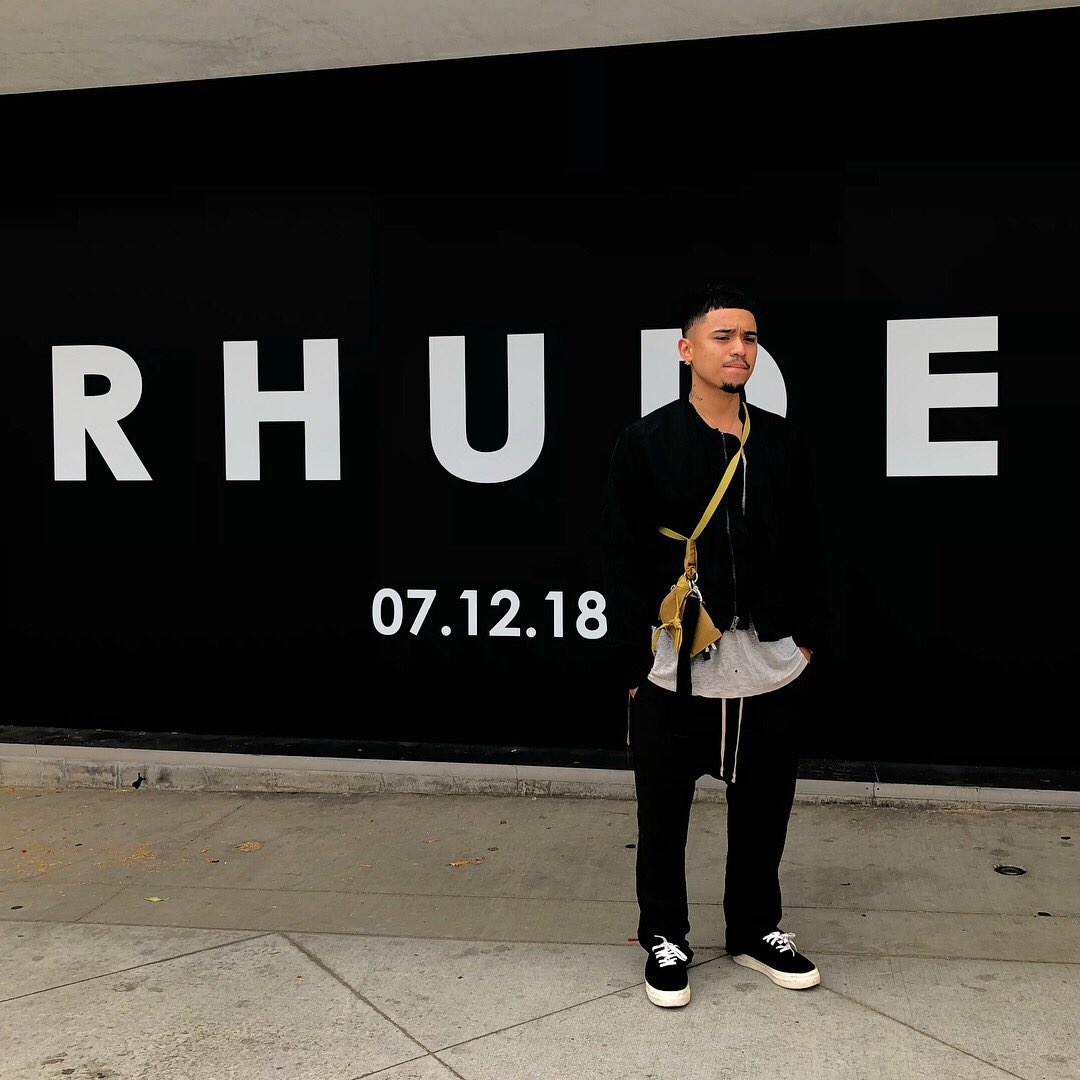 Pre espys @RHUDEDESIGNS pop up at Maxfields watch what I do.