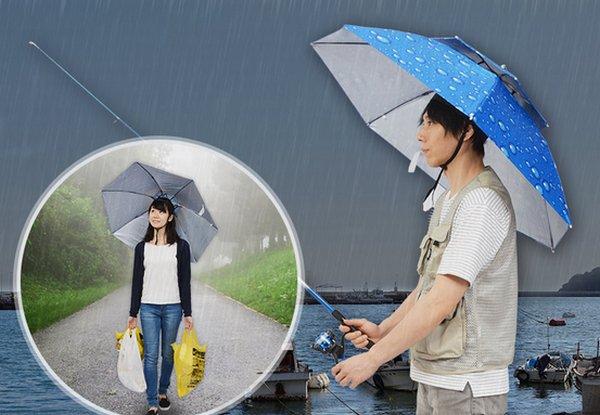 【ハンズフリー】笠地蔵のように頭に直接装着する傘を発売! https://t.co/Zq06cIOtla  発明以来、形状にあまり進化のみられない傘というジャンルにおいて、革新的で原点回帰とも言えるデザインとなっている。