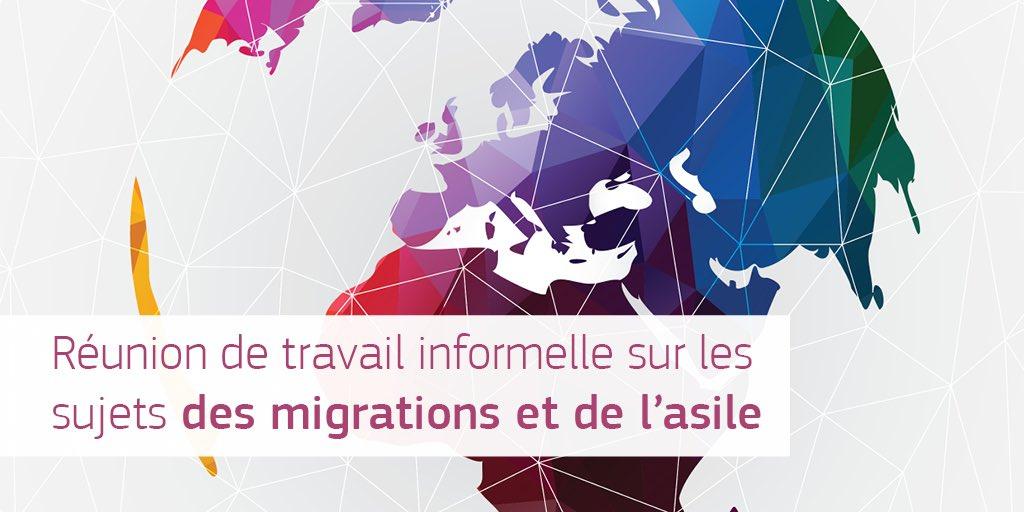 J'invite à une réunion de travail informelle sur les sujets des migrations et de l'asile un groupe d'Etats membres intéressés. Le but de la réunion, qui aura lieu ce dimanche à Bruxelles, est de travailler à des solutions européennes en vue du #EUCO. #MigrationEU