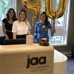 Massive thanks to @Captify for our 🎂- look forward to seeing you later! #jaa40th