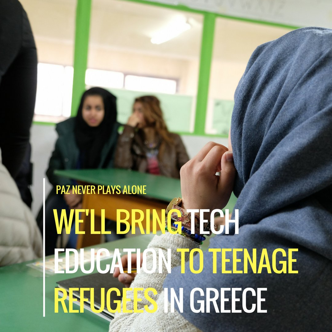 More Today it's #WorldRefugeeDay : will you help us reaching 100 backers for our #socialimpact education project? Donate as little as £1 to help us providing basic tech education to #refugees in Greece! -> https://kck.st/2M5BY3X