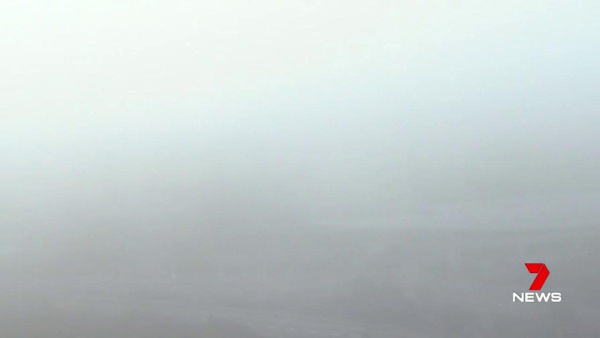 Image for the Tweet beginning: WINTER MIST Parts of Perth vanished