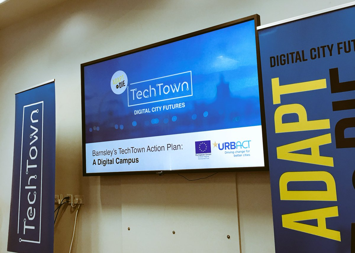 TechTown, Digital City Futures presented on a large screen