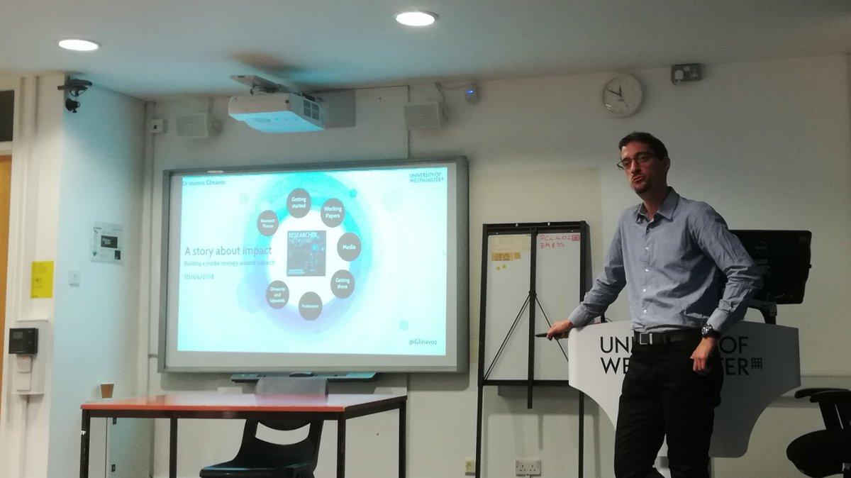 @iGlinavos is doing a very interesting and funny talk on how to publish something quickly on important issues like #brexit #researchvisibility #researchernetwork @UniWestminster<br>http://pic.twitter.com/1wWcN9Zl8s