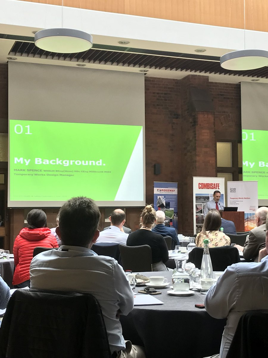 Mark Spence from @GRAHAM_Civils @GRAHAMGroupUK  providing a talk on temporary works at the @ICE_NIreland conference. @workwearmallusk are also supporting ICE with an exhibition stand.<br>http://pic.twitter.com/gGAcPSFSRb