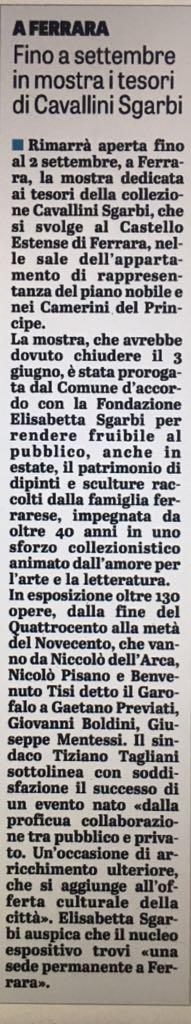 A #Ferrara. Fino a settembre in mostra i tesori di #Cavallini #Sgarbi@VittorioSgarbi @stampasgarbi  - Ukustom
