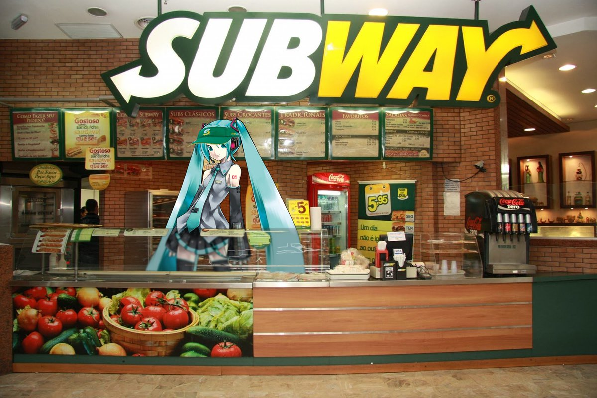 Hatsune Miku works at Subway.