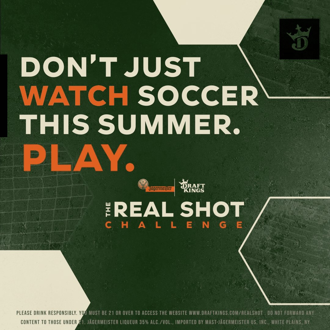 Soccer fans! Don't forget to join #TheRealShotChallenge presented by @DraftKings and @JagermeisterUSA. Get in the game and adopt your team today:live.draftkings.com/games/realshot/