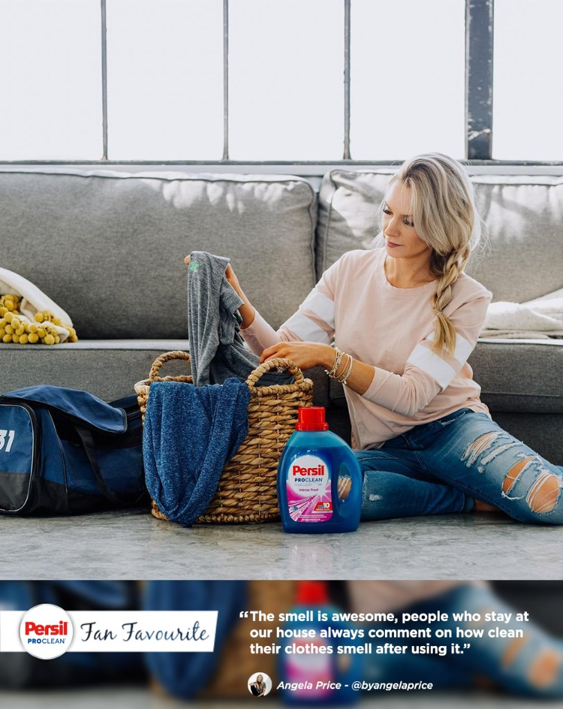 We're happy to be @ByAngelaPrice's laundry detergent of choice! Learn more about Persil® ProClean® Intense Fresh: https://t.co/5TSv76ITmy  #partner https://t.co/Tg1p5OZAiw