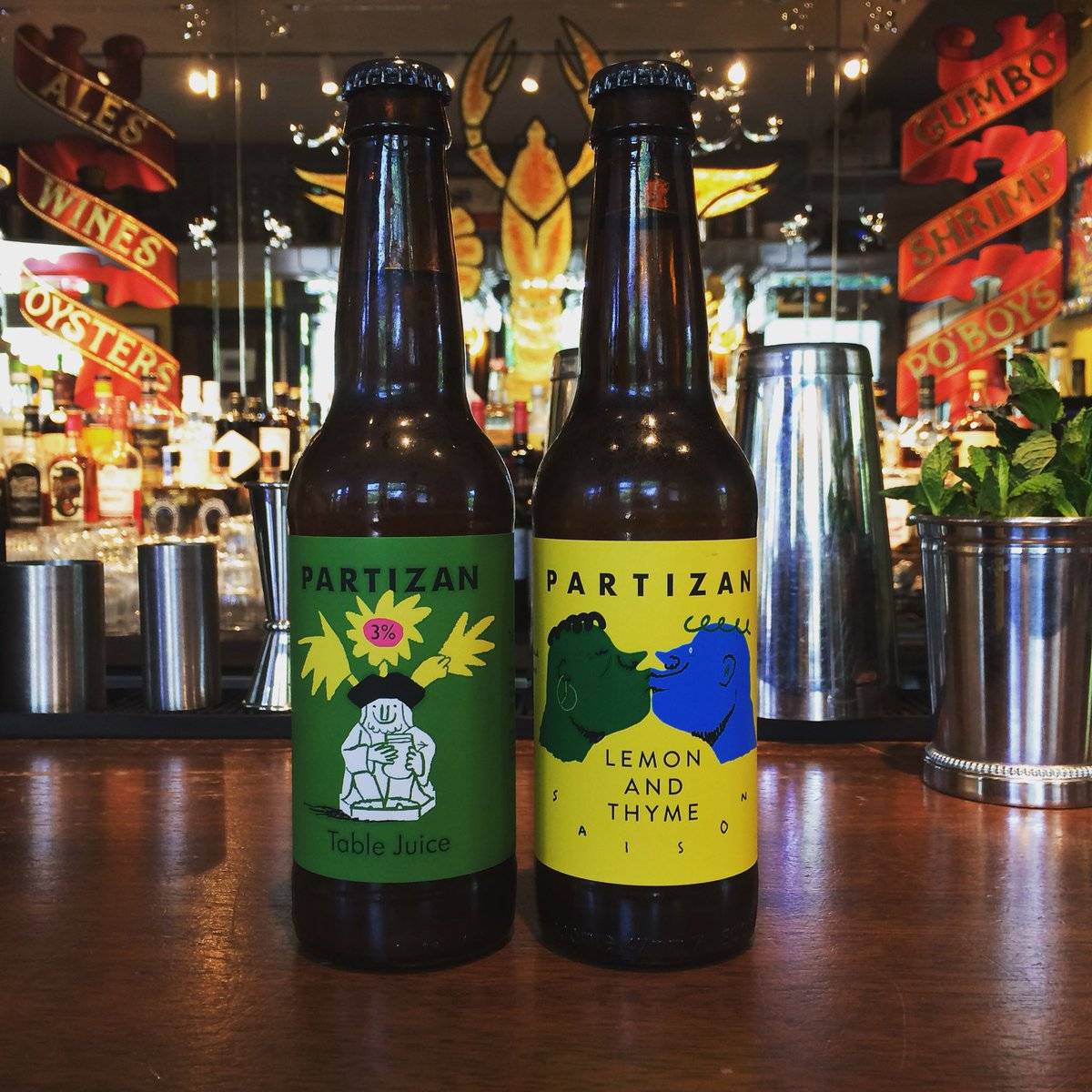 What to do on this most lovely of hump day Wednesday's? Come here and enjoy 2 for 1 bottles and cans! We love @PartizanBrewing! Live jazz with Pedro and his sexy guitar tonight from 7-9! #plaqueminelock