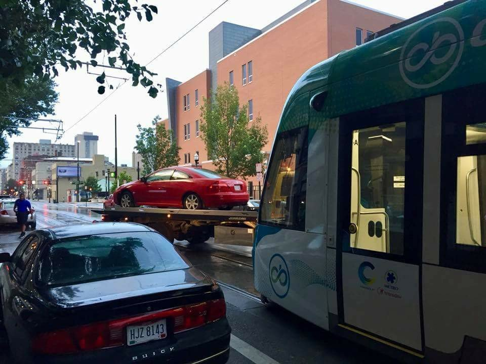 Park on Cincinnati&#39;s streetcar tracks and you may get towed<br>http://pic.twitter.com/gvlHbZXgFD