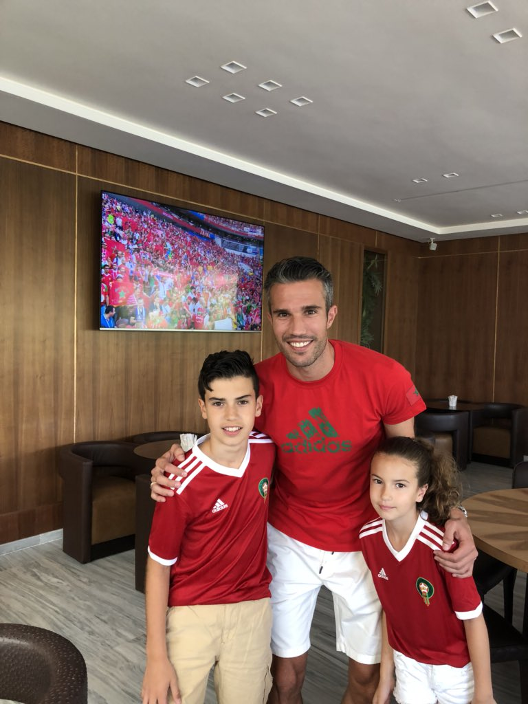 Robin van Persie's photo on Morocco
