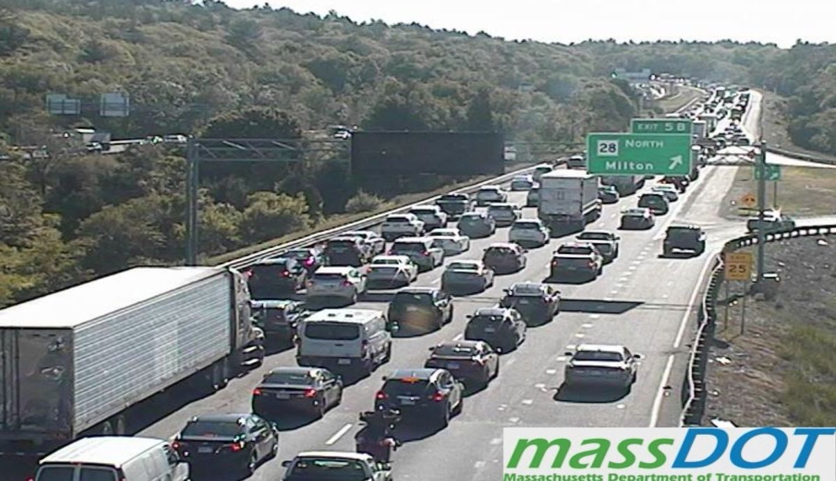 **COMMUTER ALERT**  This is what I-93 North heading toward #Braintree looks like right now.  Watch for @CatherineNews traffic updates on @boston25 Morning News.   #Brockton #Boston #Randolph<br>http://pic.twitter.com/GJxEttQeJU