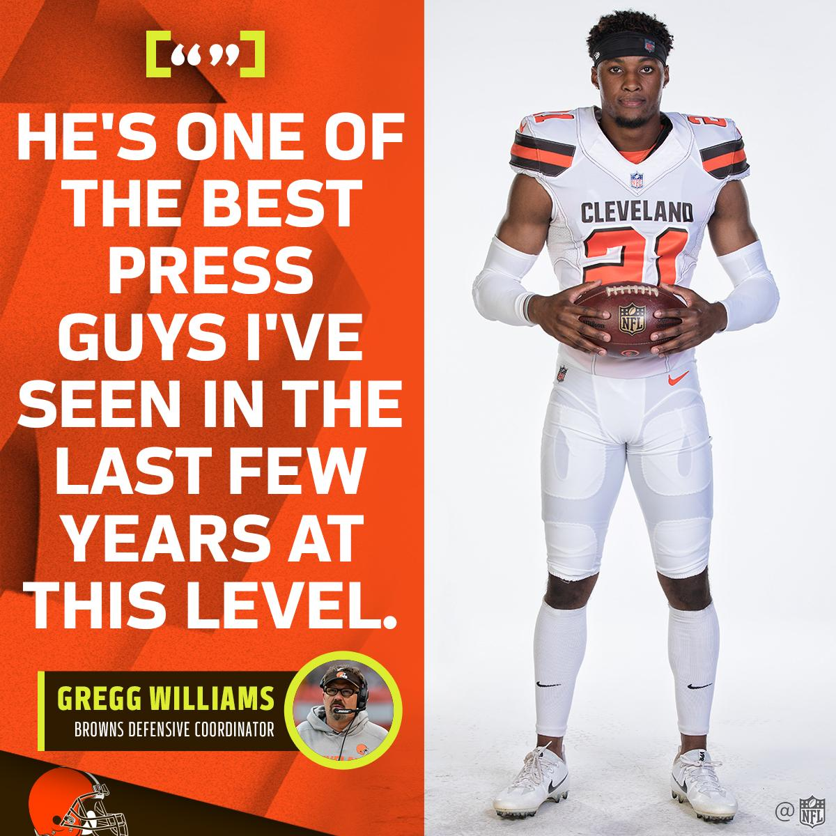 The next @shonrp2?  He's drawing rave reviews in the @Browns secondary: https://t.co/FPV10Y0jqT https://t.co/mPML2lRY76