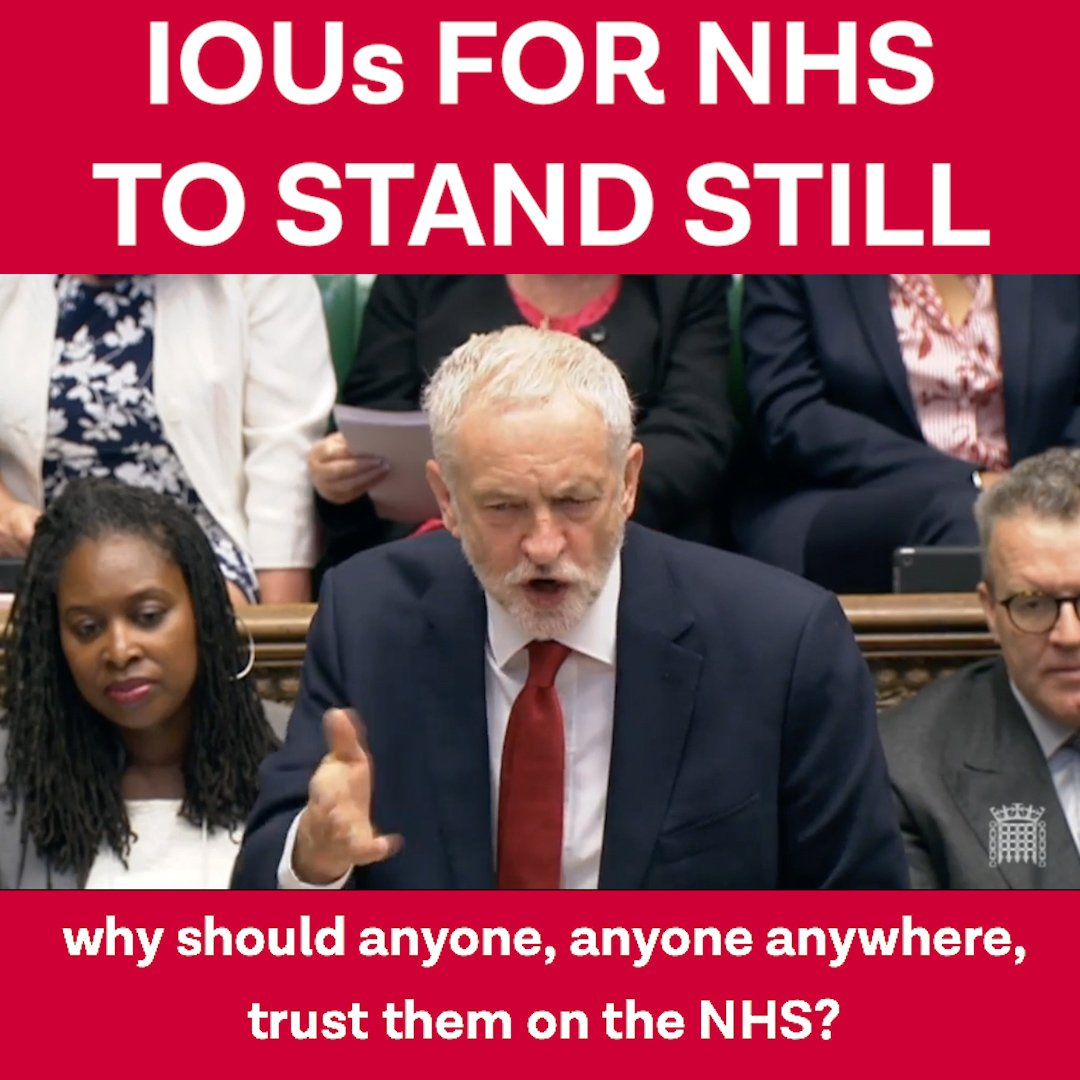 Why should anyone, anyone anywhere, trust the Tories on the NHS? #PMQs