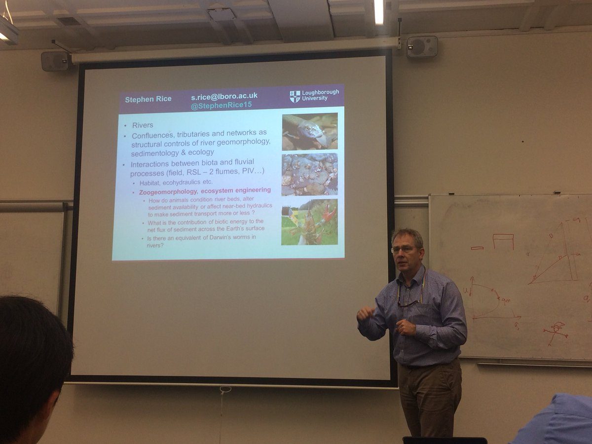 Civils may be hosting, but they're not the only engineers around - great to watch @StephenRice15 spreading the #zoogeomorphology , #weirs , #crayfish and #caddis love to at @lborouniversity water day<br>http://pic.twitter.com/E63eUVUxnb