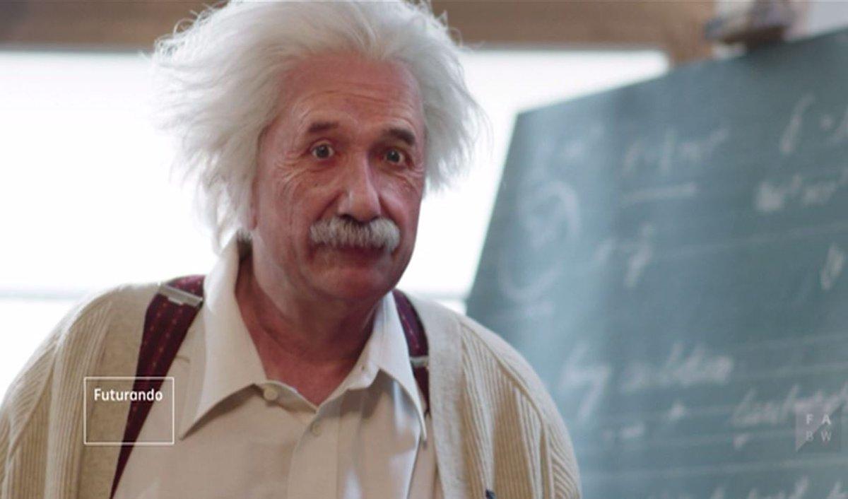 Especialistas em animação criam uma versão digital de Einstein. Veja no vídeo do #Futurando como ficou.  https://t.co/5RN8RGMdVT