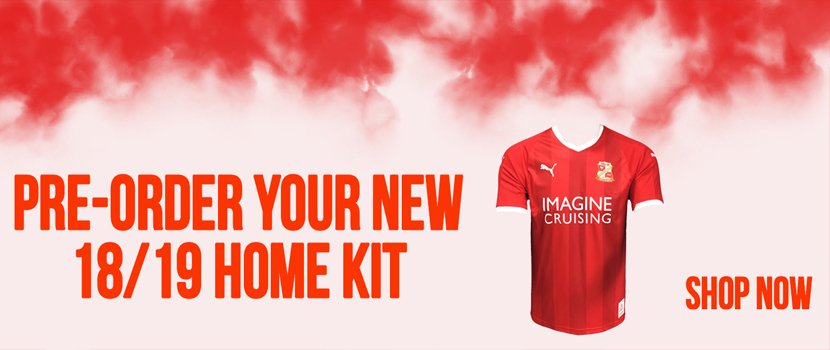 Are you a fan of our new 1⃣8⃣/1⃣9⃣ home kit? Pre-order yours now! 👉 bit.ly/2MHTfk0 #STFC #WEARESWINDON