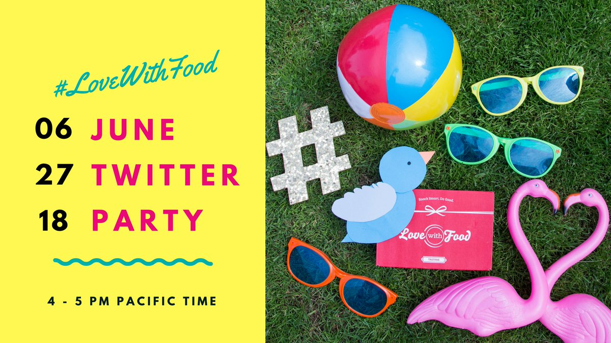 💃Our June #LoveWithFood Twitter Party is in ONE WEEK!💃 Join us, brands from our June LIVE boxes, & fellow foodies from 4-5 pm for an hour of snacks, swag, and smiles! See all the Party deets and how to win our biggest prize of the night > https://t.co/8En0dxs2ER