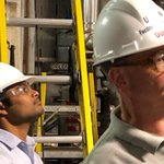 Doug Cooper - the founder of Control Station - hosted two new hires today for a tour of the UConn cogen facility.