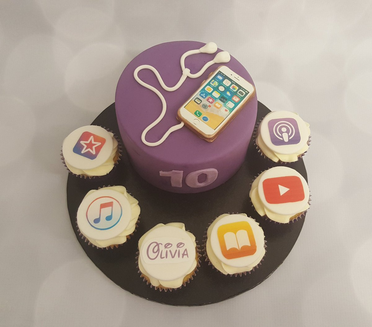 Awesome Swirlytop Cakes On Twitter Iphone Themed Cake With Matching Funny Birthday Cards Online Aeocydamsfinfo