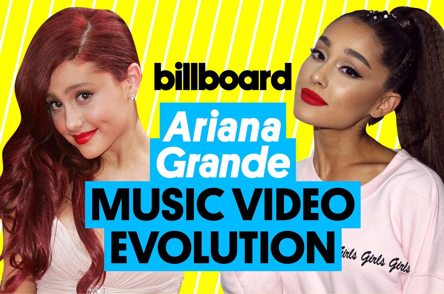 From 2012 to today, here is Ariana Grande's music video evolution https://t.co/gk1ELlJzm8 https://t.co/gMKAcH7uRd