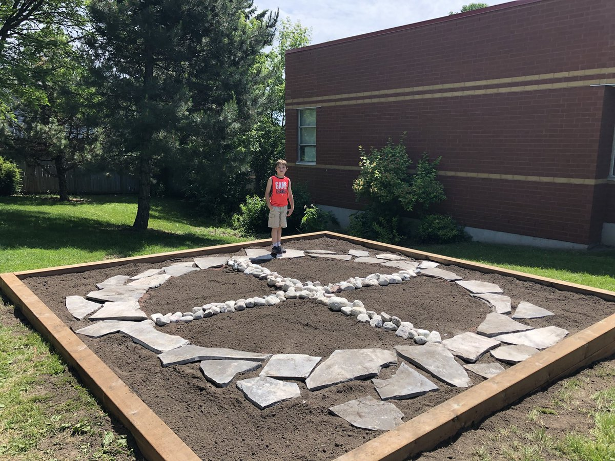 Sfa Ces On Twitter Our Medicine Wheel Garden Is Well Underway Pvncfnmi Pvnclearns