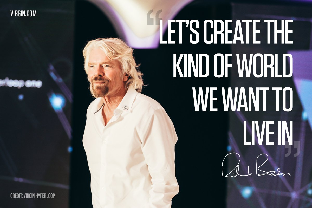 Let's create the kind of world we want to live in