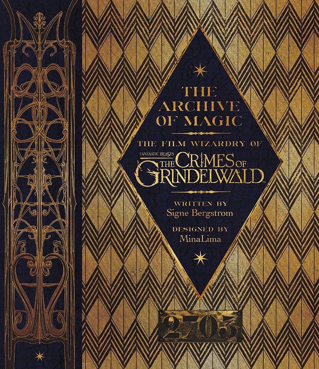 Nouveau livre prévu sur #FantasticBeasts : Les Crimes de Grindelwald avec un design 100% @minalima Le design reprend les coffres forts que nous avons aperçu sur une photo promo du film avec Norbert et Tina. 2703 serait-il le coffre de Grindelwald ?  - FestivalFocus