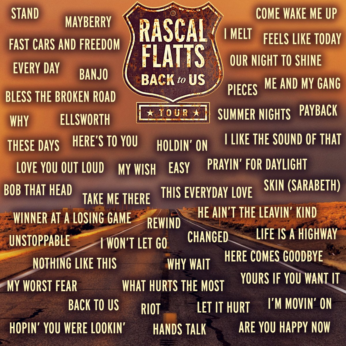POLL: The #BackToUsTour is off and running! What Flatts tune do you want to hear live? Leave a comment!
