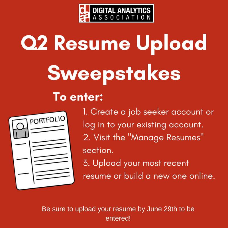 Digitalanalyticsorg On Twitter Upload Your Resume To Your Job
