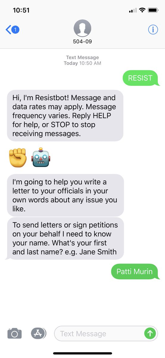 Patti Murin On Twitter Text Resist To 50409 To Generate A Letter