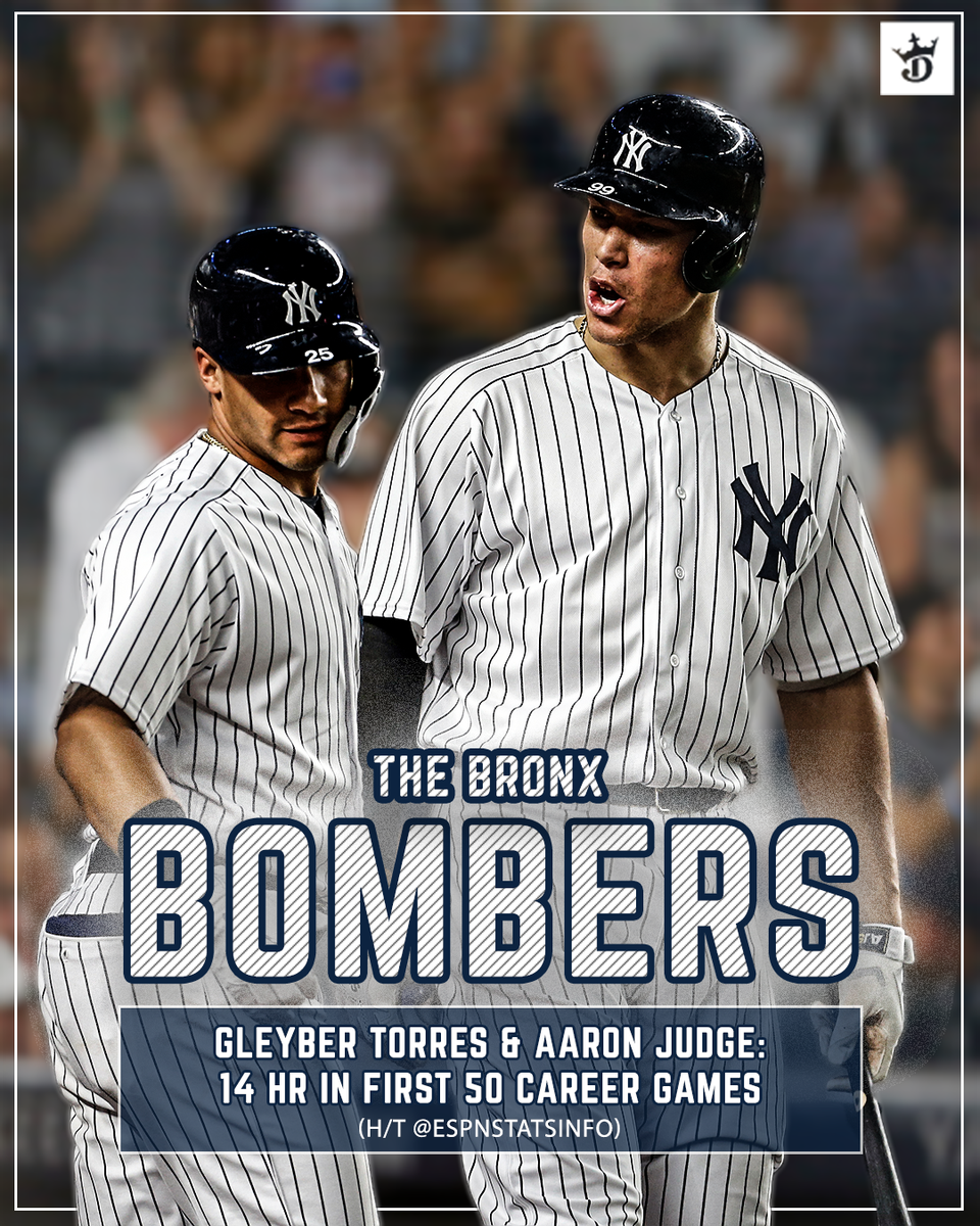 The @Yankees just wont stop hitting home runs: @TorresGleyber is doing his best @TheJudge44 impression.