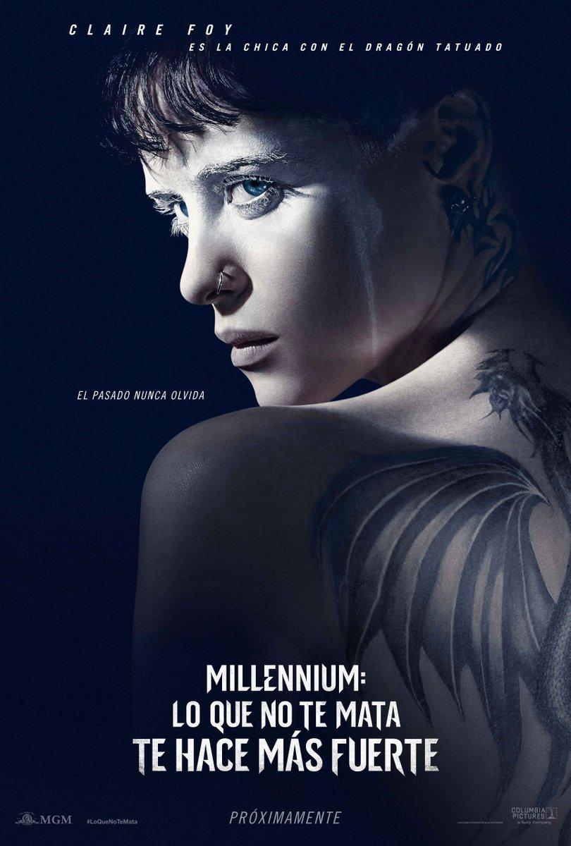 RT sonypictures_es Claire Foy es la chica con el dragón tatuado. Millennium #LoQueNoTeMata te hace más fuerte, en cines 26 de octubre.