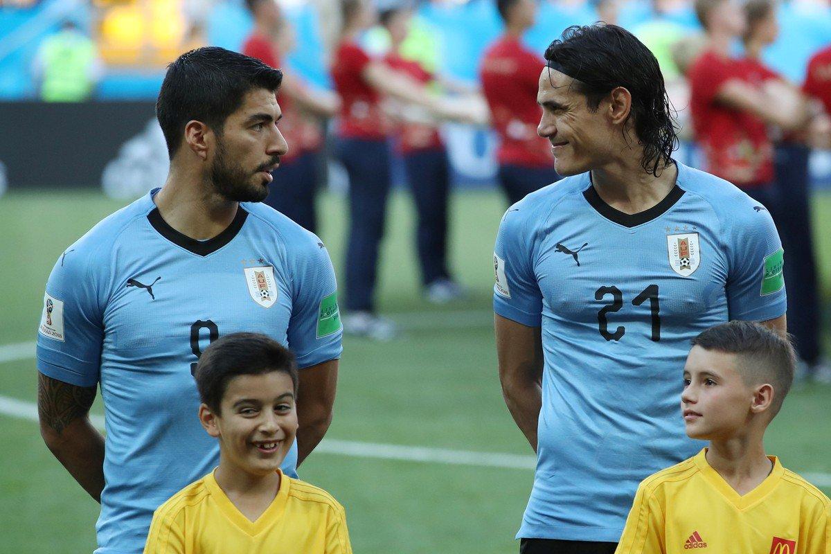 Será que essa dupla aprontará altas emoções no jogo de hoje? https://t.co/UIYBdj0fLU #GlobonaCopa #Cavani #Suarez