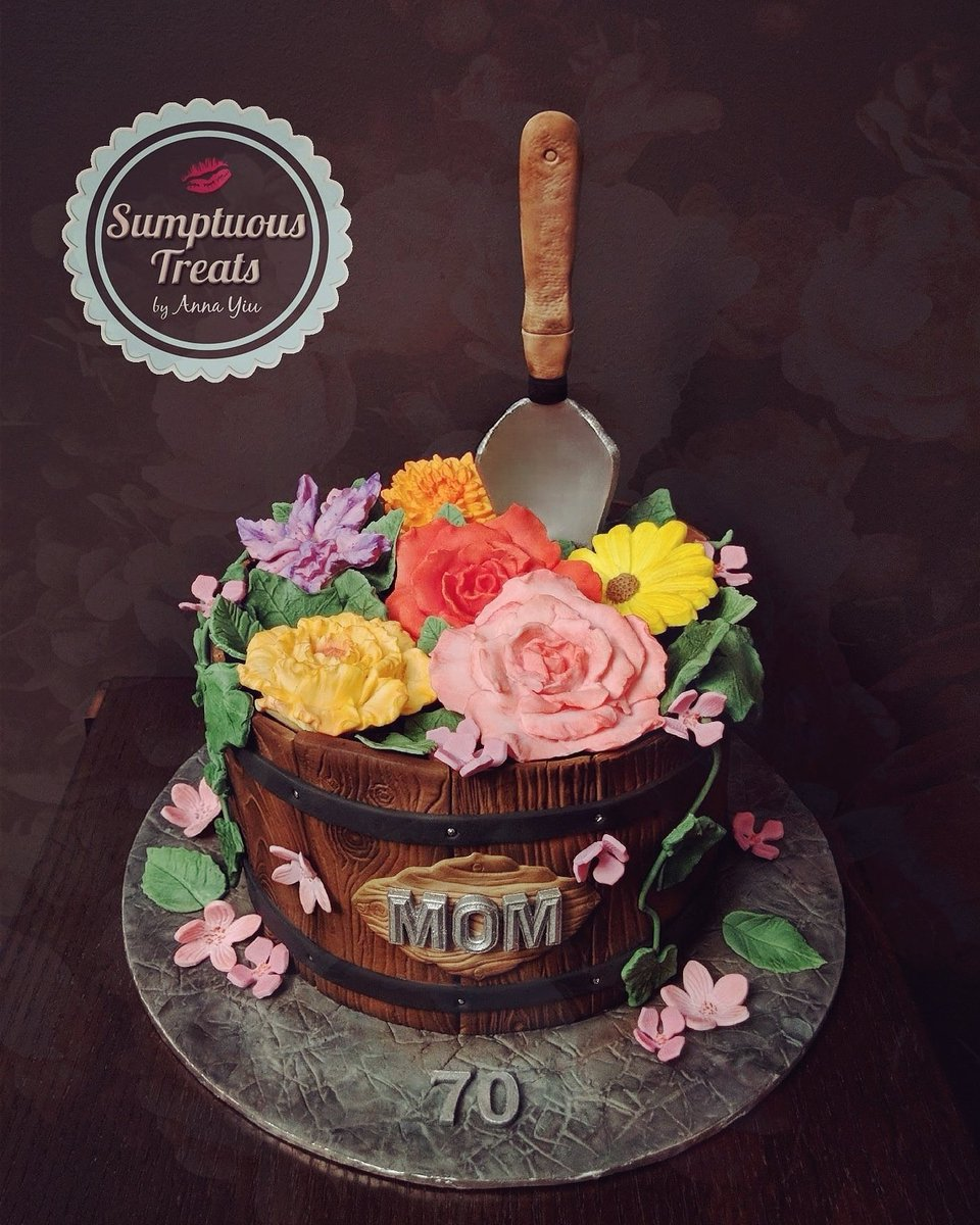 Sumptuous Treats On Twitter Pot Of Flowers Moms 70th Birthday