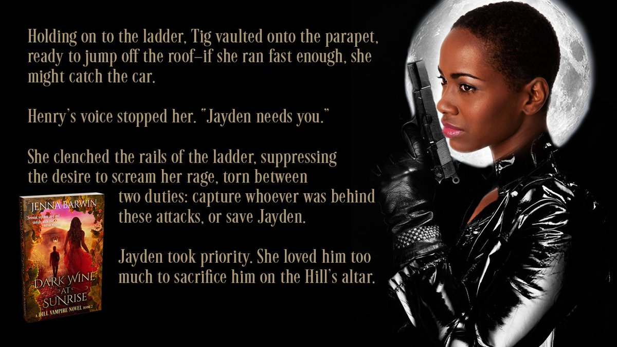 #1LineWed: Tig clenched the rails of the ladder, suppressing the desire to scream her rage, torn between two duties: capture whoever was behind these attacks, or save Jayden.  Free in #kindleunlimited!  http:// bit.ly/DarkWineatMidn ight &nbsp; …   #ku #RomanticSuspense #uf #paranormalromance #pnr<br>http://pic.twitter.com/enaXzVAXQJ