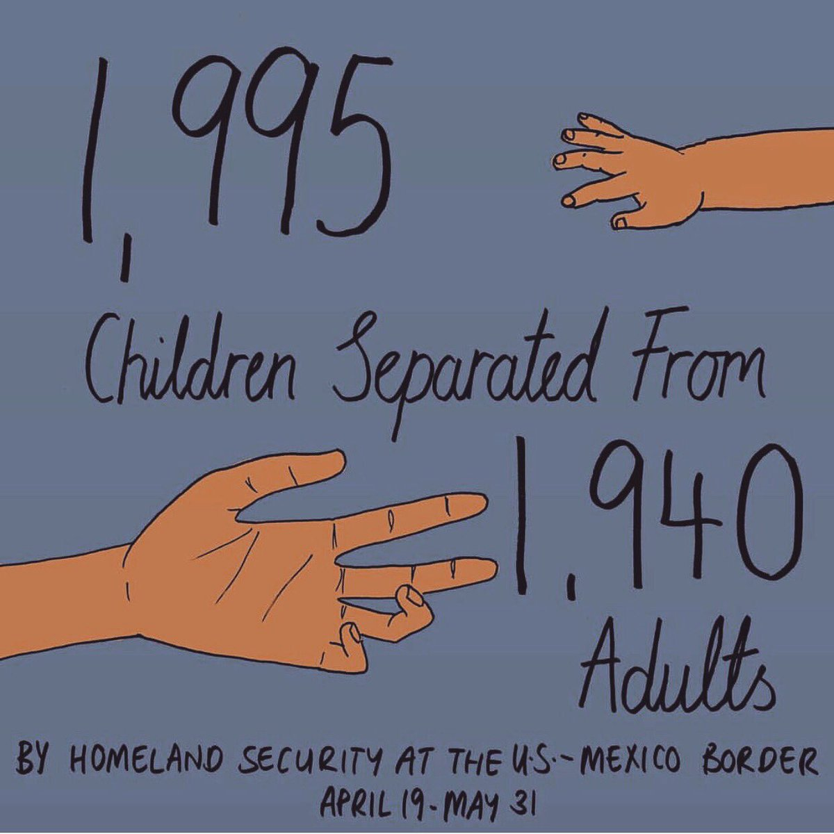 """Unbelievably devastating. Click here to Ask Congress to #keepfamilies together via @unicefusa https://t.co/6AQIoEFCDK  Repost @MonaChalabi """"Source: Department of Homeland Security 2018 Contact your representatives, donate to @ACLU @RAICESTEXAS or @TXCivilRights"""""""