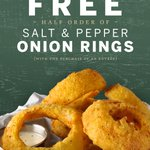 Ted's Montana Grill is celebrating #NationalOnionRingDay! From today until June 22, get a complimentary half order of Salt and Pepper Onion Rings by clicking this link - https://t.co/ItoHlwU8Be