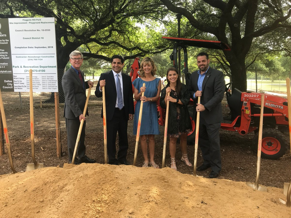 So proud the Jordan Spieth Family Foundation was a part of the Flag Pole Hill Park groundbreaking ceremony with @CityOfDallas! Excited for the new, universally accessible playground to open this fall: goo.gl/bAbGQS