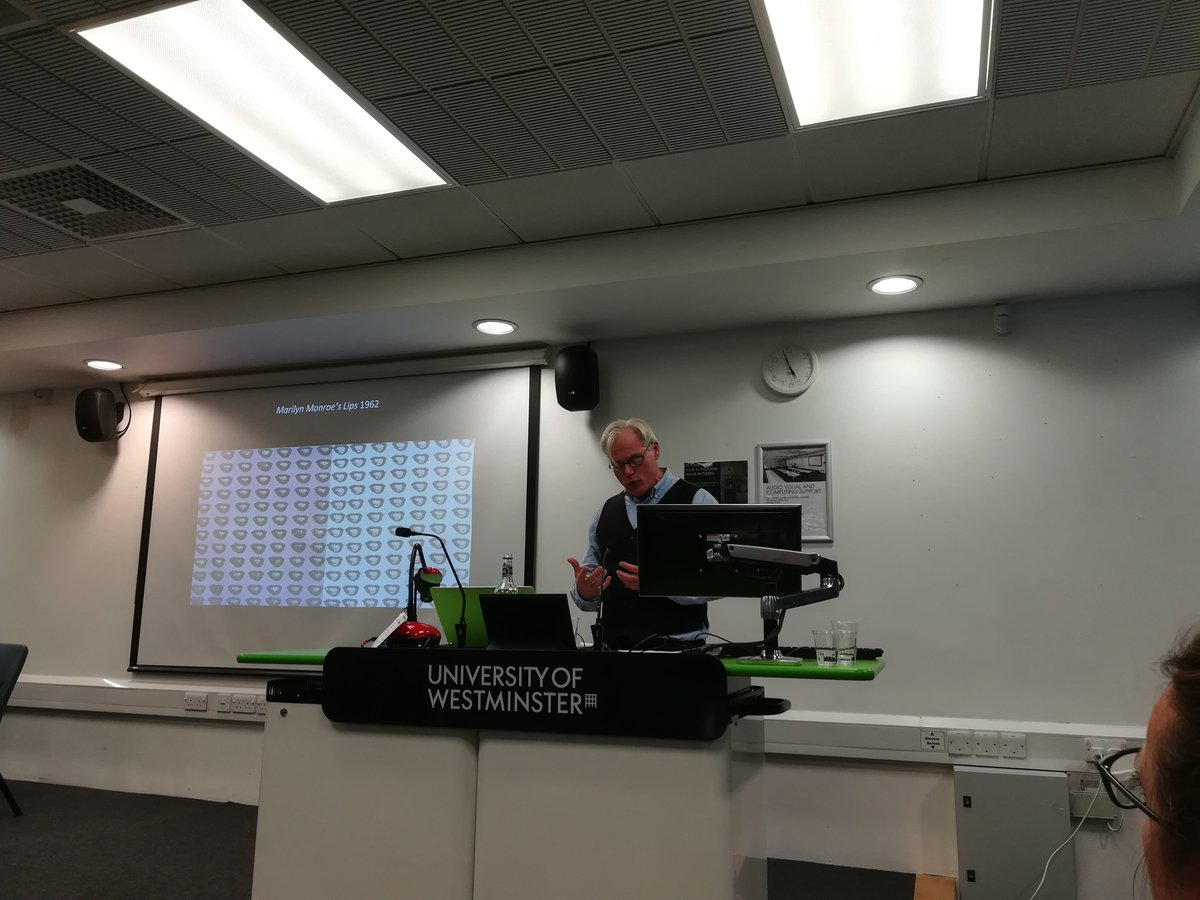 Final keynote from Jonathan Katz, University at Buffalo, talking about Warhol and communal queer ethos. Brilliant way to end the day and some spectacular art! Wow wow wow what a day! @UniWestminster #researchernetwork #researchvisibility #uowresearch<br>http://pic.twitter.com/iJN3ktWvrV