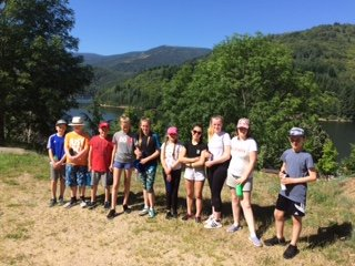Another group went for a long walk today around Lac de ville forte lake. Fantastic views and great resilience shown. #FranceResilienceCamp2018  @braytonacademy1