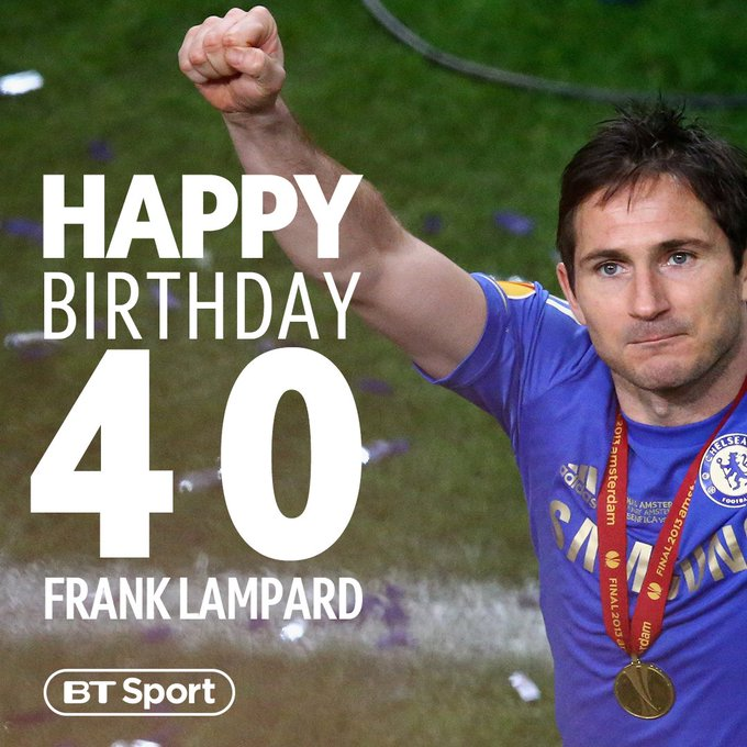 Premier League 🏆🏆🏆 FA Cup 🏆🏆🏆🏆 League Cup 🏆🏆 Champions League 🏆 Europa League 🏆 Happy Birthday to one of the best English players of his generation, Frank Lampard 🎂 Photo