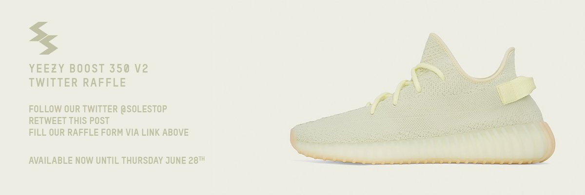 Our Twitter & Instagram Raffle for the upcoming Yeezy BOOST 350 V2 Butter is now OPEN! - Please follow the rules in the image below, more details available via website & raffle form. - Good luck! Raffle Form: bit.ly/2JYK4wX More Info: bit.ly/2K1FQEQ