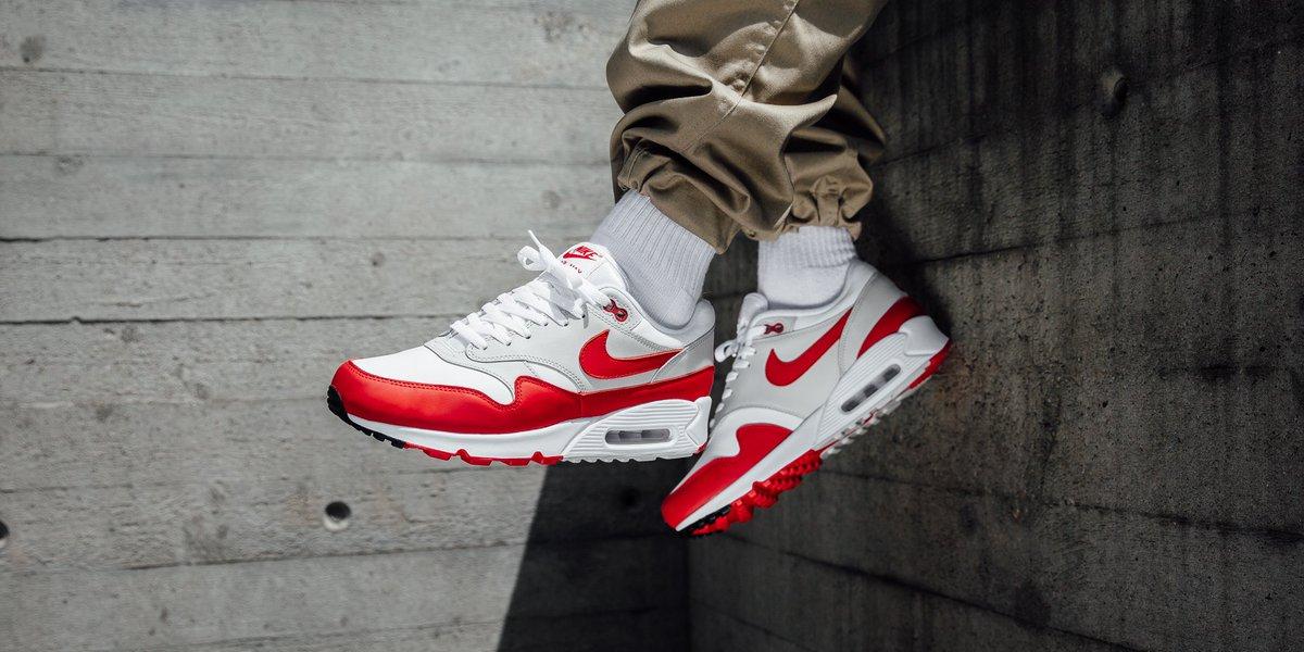 Nike Air Max 90 1 - White University Red-Neutral Grey-Black shop HERE ▷  https   t.co RLbEn1miKH  sneakers  nike  adidas  puma  reebok  asics  vans  ... 6359c8007b30