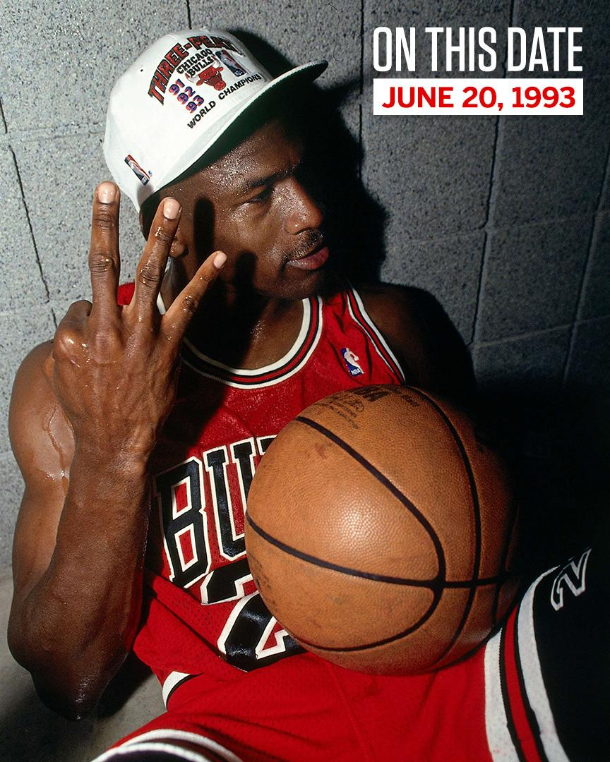 25 years ago today, MJ got 💍 No. 3.