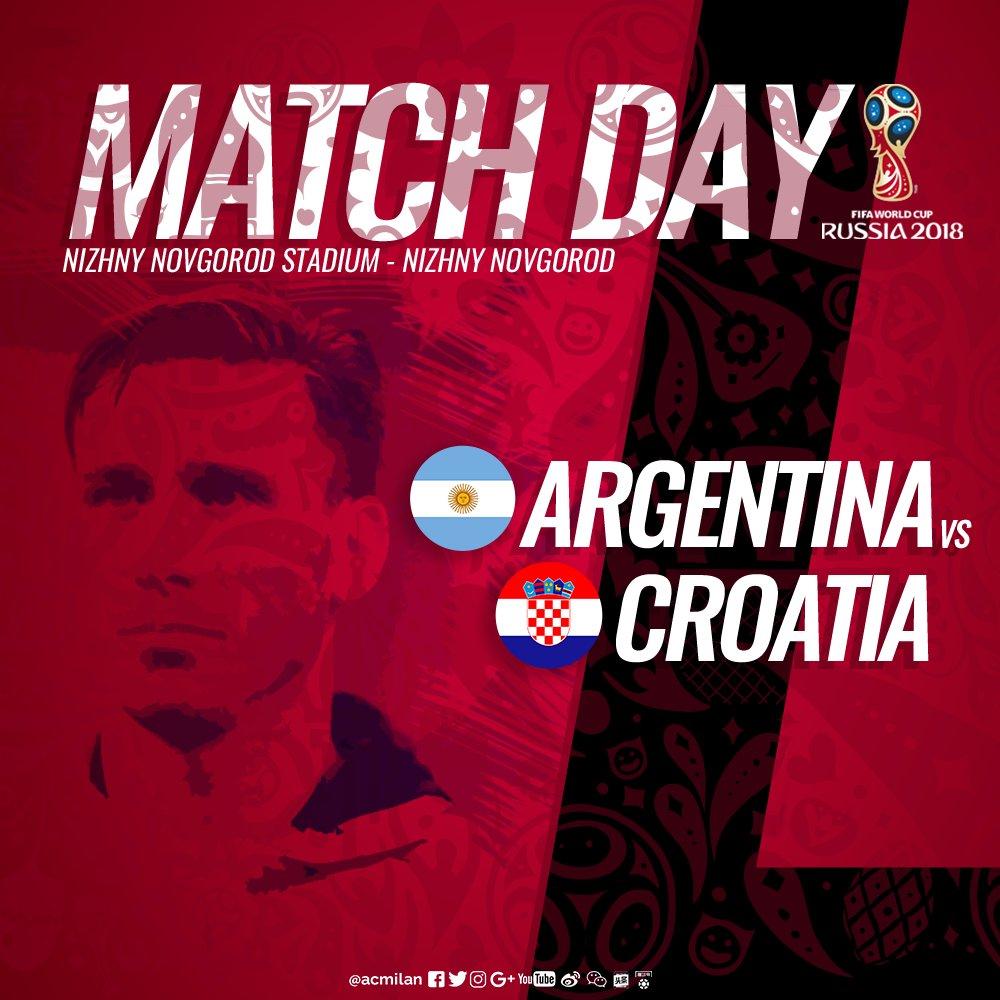 🇦🇷 | #WorldwideMilan Lucas Biglia and #ARG are looking to bounce back after the draw in their #WorldCup opener Lucas con la sua @Argentina in cerca di riscatto dopo il pareggio all'esordio ¡Buena suerte, Lucas! #ARGCROCRO