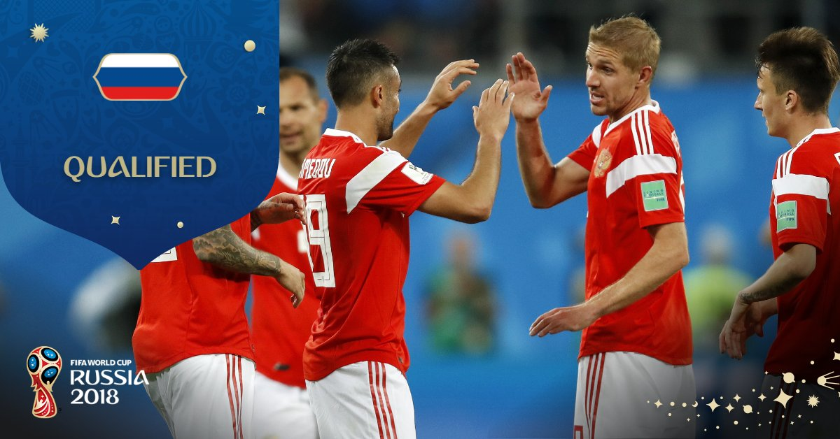 Congratulations to Russia, who have qualified for the knock-out stages!  #RUS #WorldCup