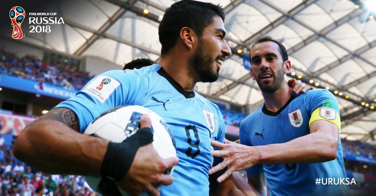 Uruguay derroto 1-0 a Arabia Saudita en Fase de Grupos